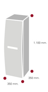 mueble de baño semi columna argon