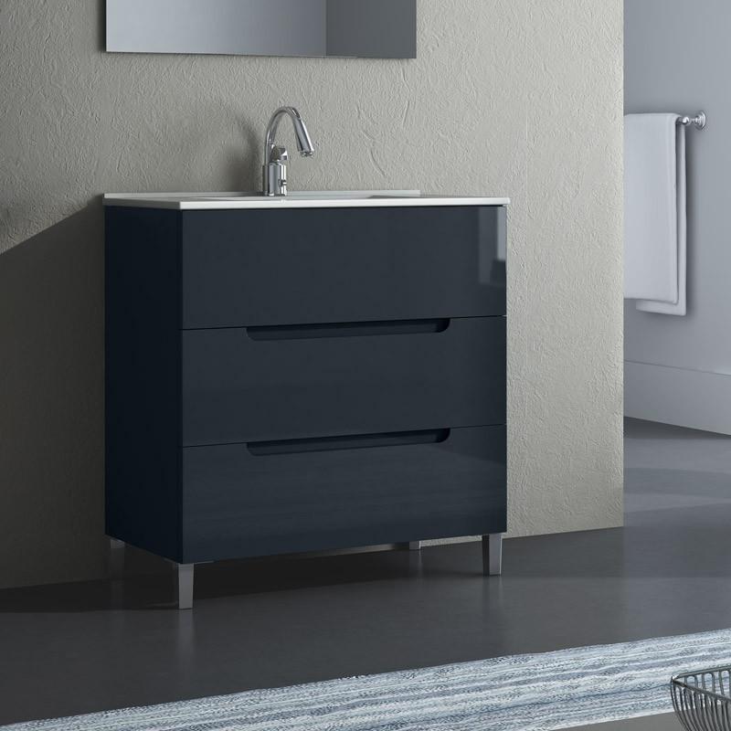 waschtisch mit unterschrank stehend mit spiegel. Black Bedroom Furniture Sets. Home Design Ideas