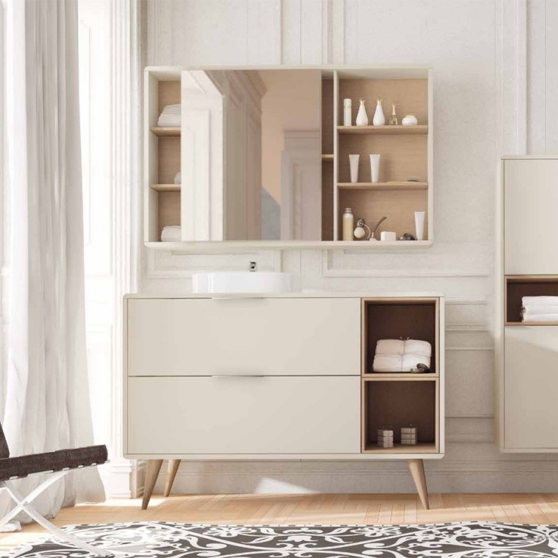 Muebles de ba o vintass 120 cm for Muebles rusticos de madera para banos