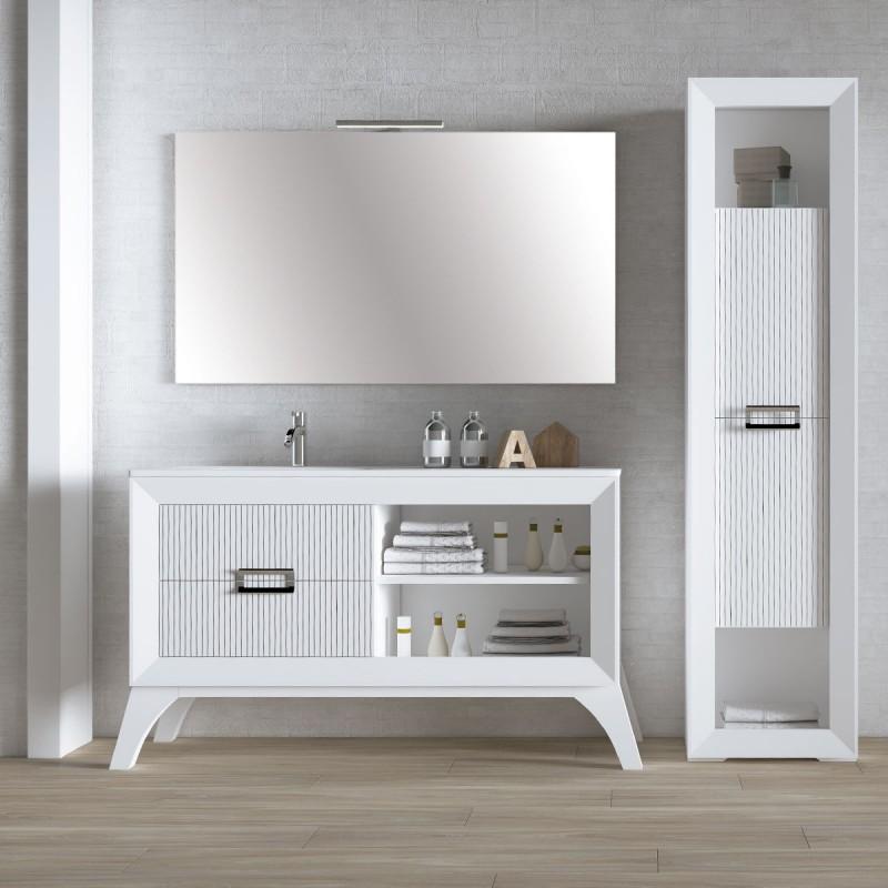 Muebles de ba o l gant 140 cm incluye encimera y espejo for Muebles de bano 140 cm