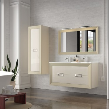Mueble de baño L-Gant 140 cm suspendido