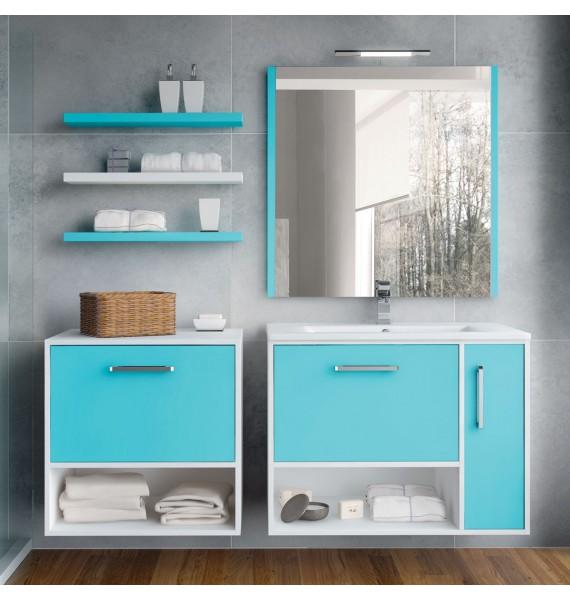 Mueble de baño Kira 80 cm con auxiliar 60 cm