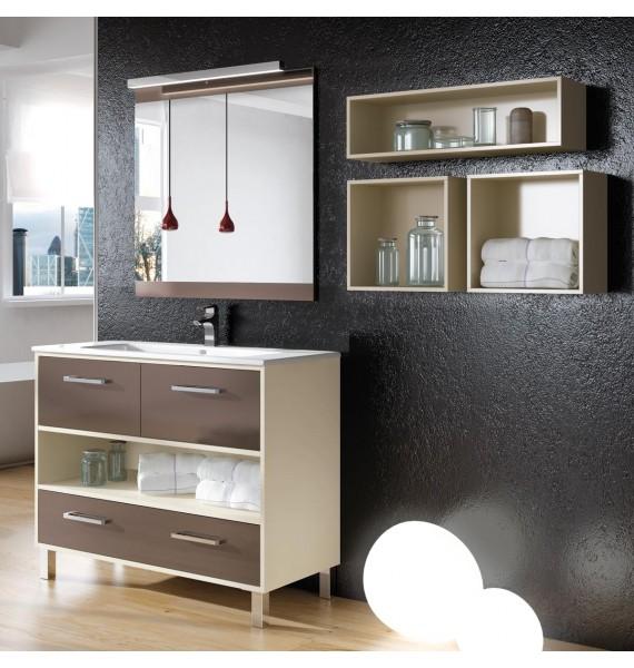 Mueble de baño Kira 80 cm con auxiliares