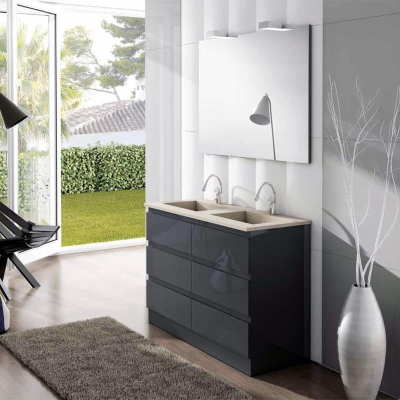 Muebles de ba o modular 150 cm for Mueble lavabo desague suelo