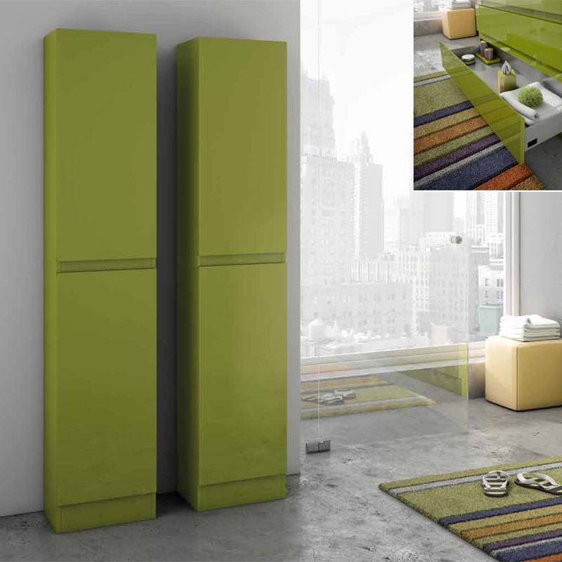 Muebles de ba o columna suelo for Columna de bano ikea