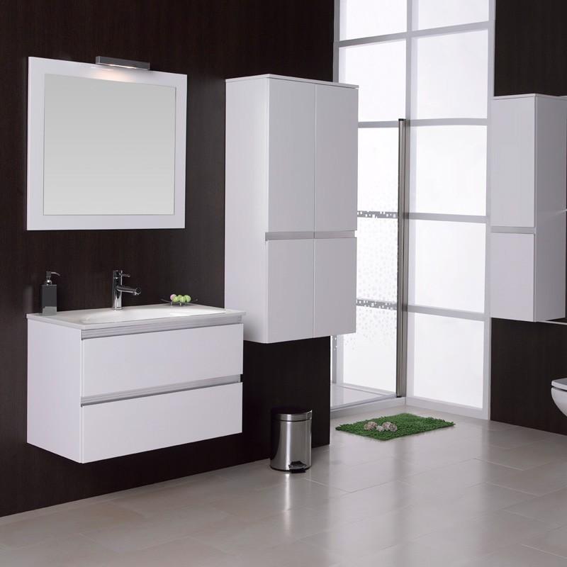 Muebles de ba o suspendido negro burdeos blanco for Muebles de bano negro
